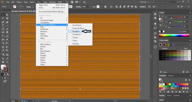 Wooden Texture in Adobe Illustrator