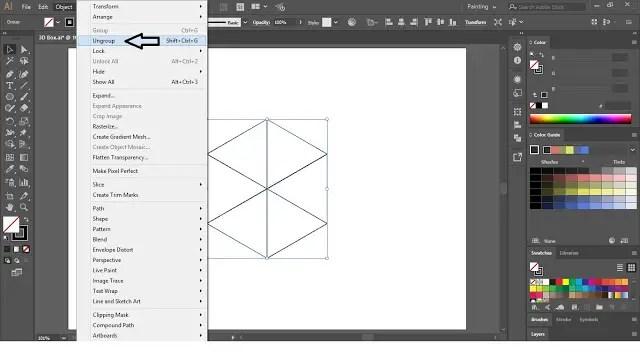 3D Box in Adobe Illustrator