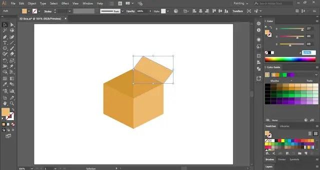 Brown Box Illustration