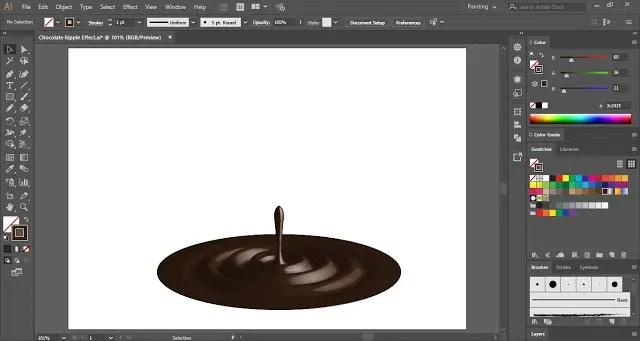 Chocolate Ripple Effect