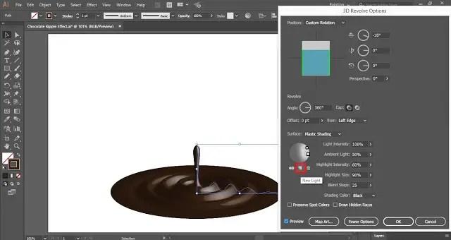 3D revolve Option