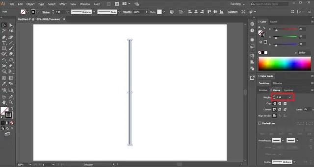 Sunburst Lines Text Effect in Adobe Illustrator