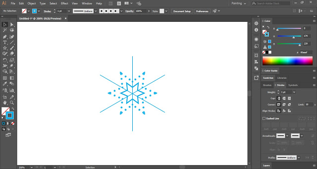 drawings of snowflakes