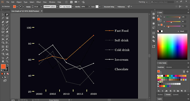 Line Graph Illustrator