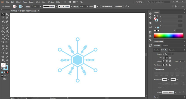 Snowflake in Adobe Illustrator