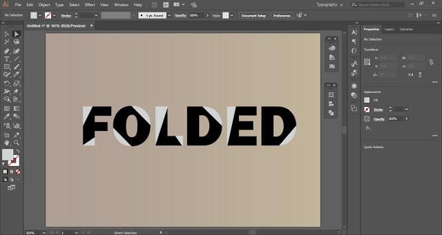 Folded Text Effect in Adobe Illustrator
