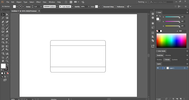 Flat Vector Camera in Adobe Illustrator