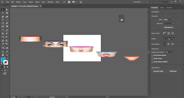 Face Sliced Effect in Adobe Illustrator