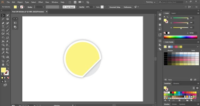 How to create Peeled Sticker in Adobe Illustrator?