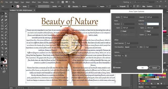 Text Wrap around Image in Adobe Illustrator
