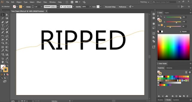 How to create Torn Paper Effect in Adobe Illustrator?