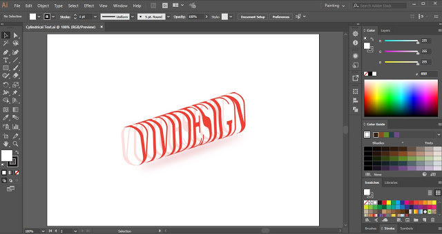 Cylindrical Text in Adobe Illustrator