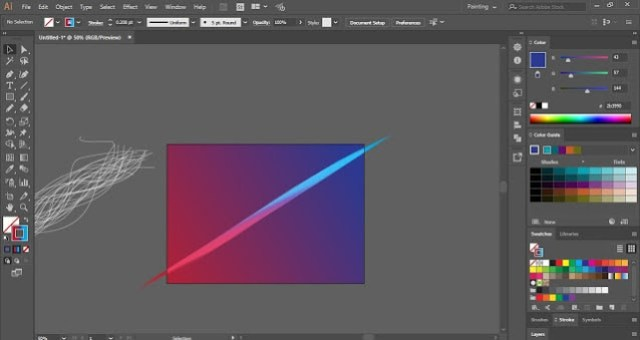 Abstract Background in Adobe Illustrator