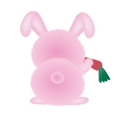 Furry Rabbit in Adobe Illustrator