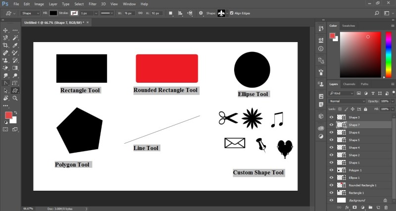 Photoshop Shape Tools