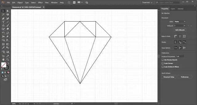 Diamond Shape in Adobe Illustrator