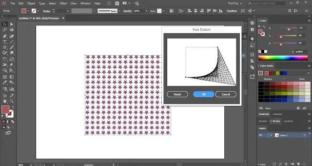 Freely Distort Shapes in Adobe Illustrator