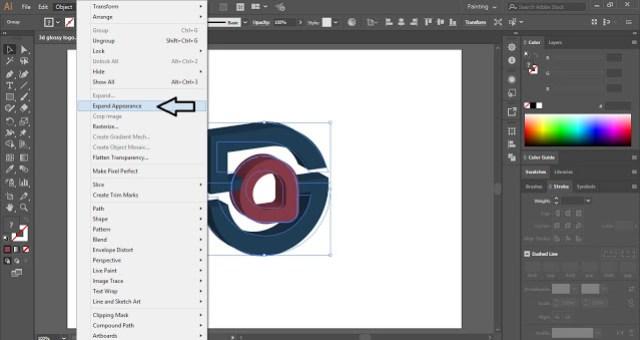 5G Glossy 3D Logo in Illustrator
