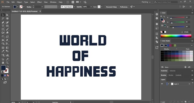 Inline Text Effect in Adobe Illustrator