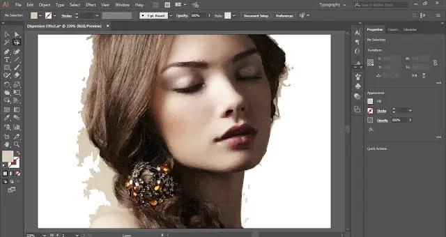 Dispersion Effect in Adobe Illustrator