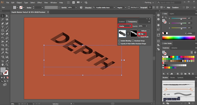 Illusion of Depth in Adobe Illustrator