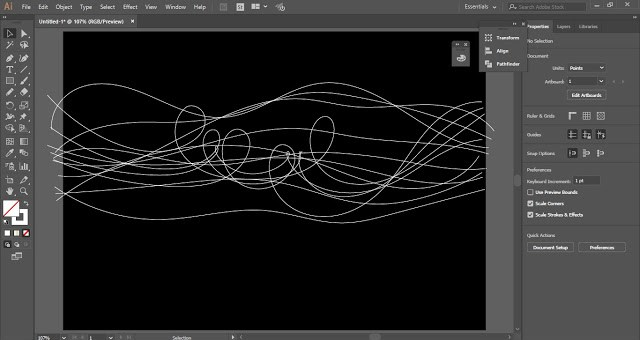 Spectrum Ribbons in Adobe Illustrator