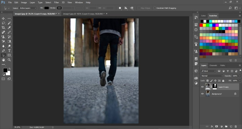 Change background in Photoshop