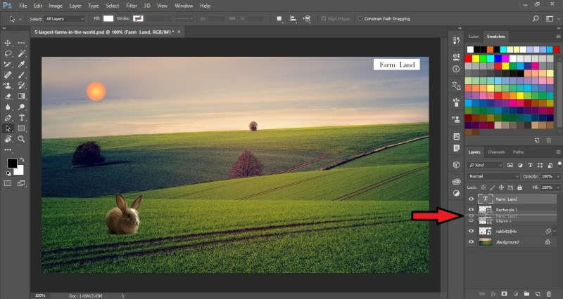 Reordering Layers in Photoshop