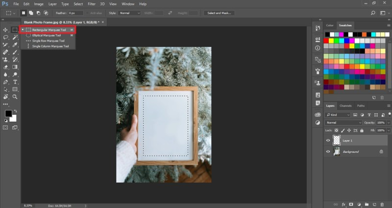 Select Rectangular Marquee Tool