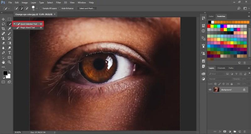Select the Eye Lens