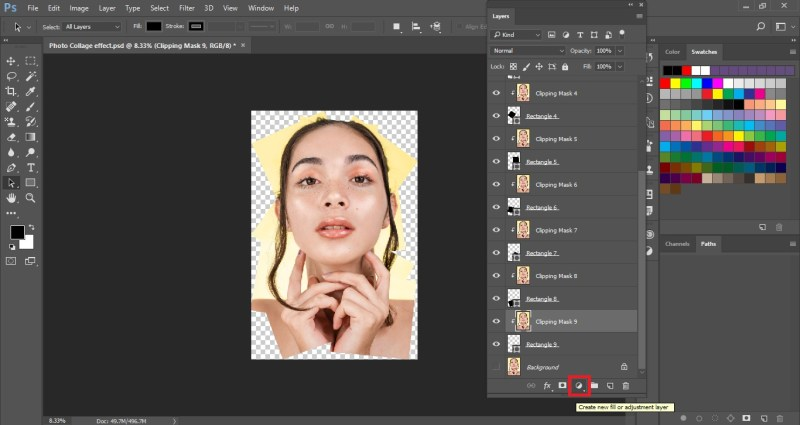 Select Create new Fill or adjustment layer