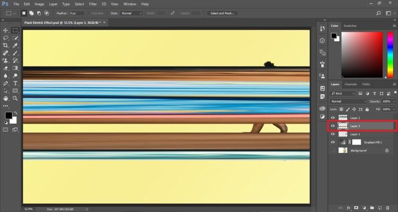 Pixel stretch Effect in Photoshop