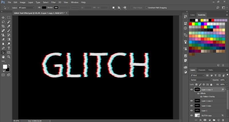 Glitch Text Effect in Photoshop