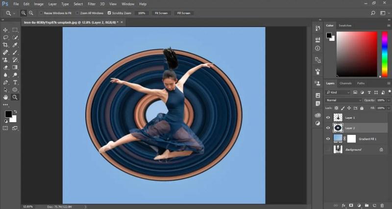 Circular Pixel Stretch Effect