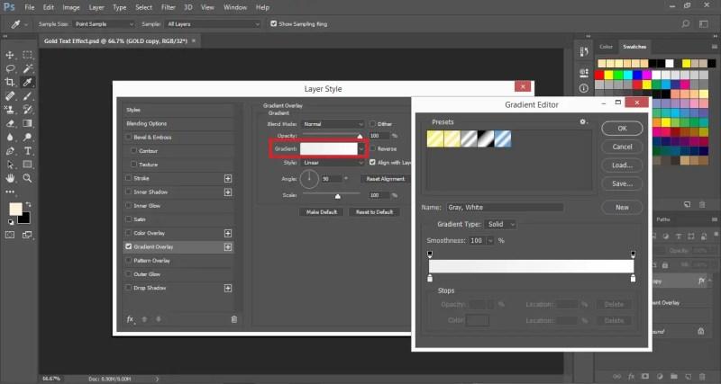 Open Gradient Editor