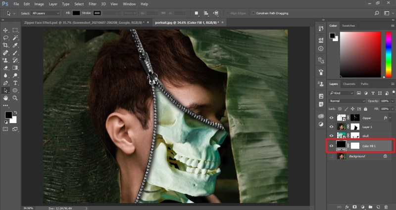 Create Solid Color Fill Layer