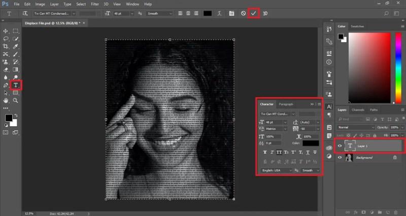 Text Portrait in Photoshop