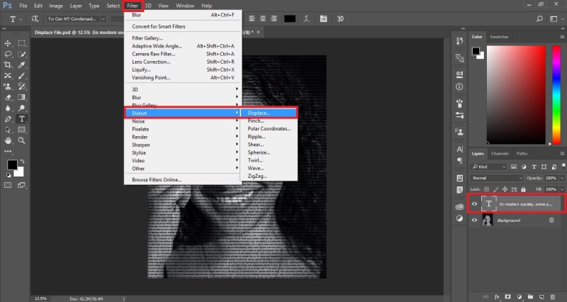 Select Displace Filter