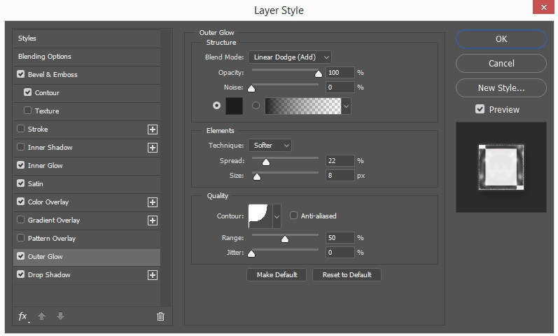 Outer Glow Layer Style