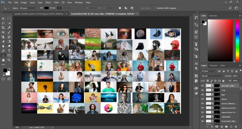 Photo Mosaic in Photoshop