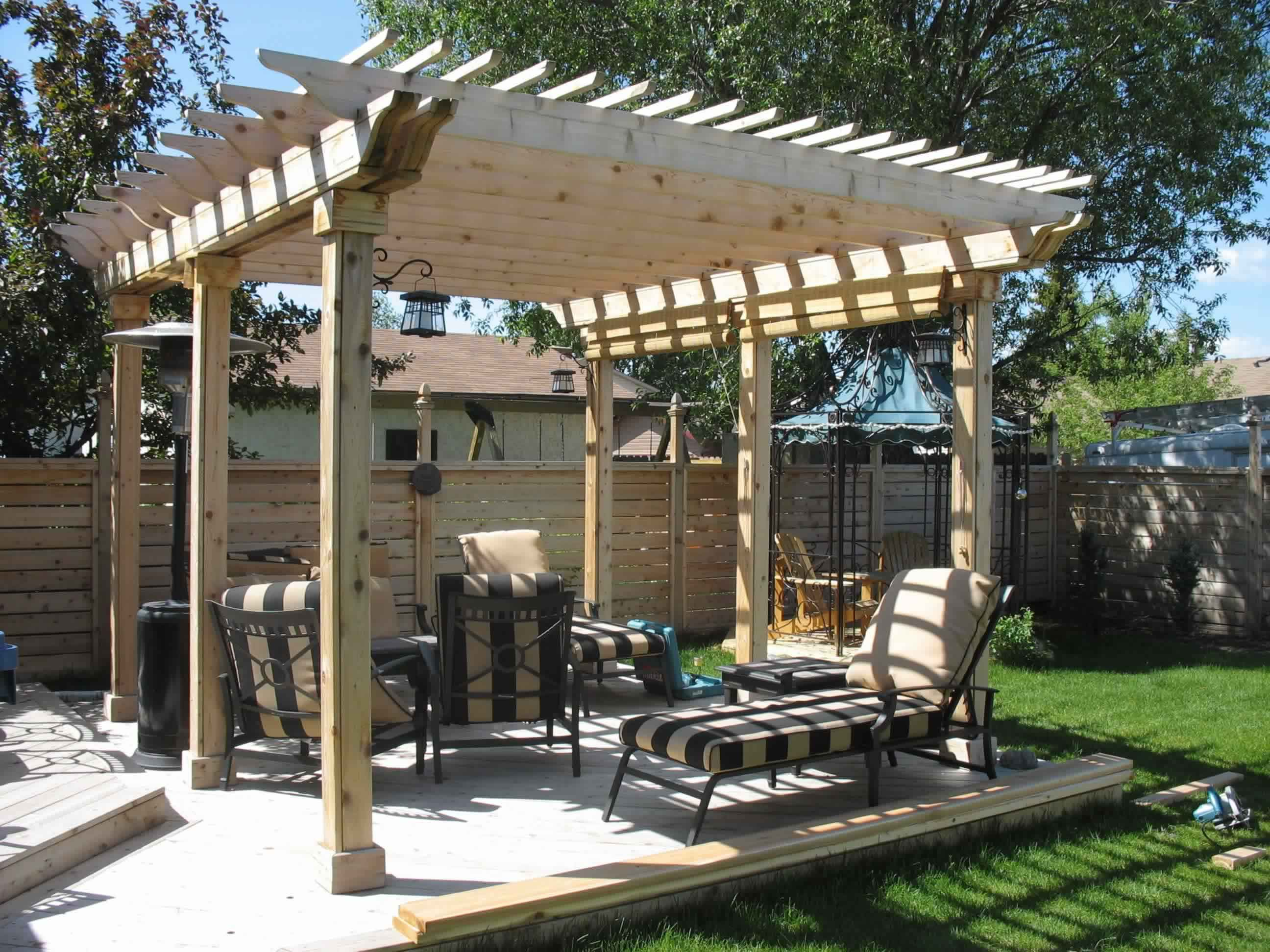 Outdoor Deck with Pergola