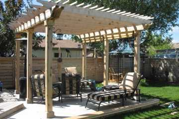 Outdoor Deck with Pergola