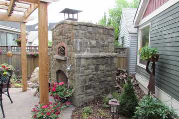 Masonry Outdoor Fireplace