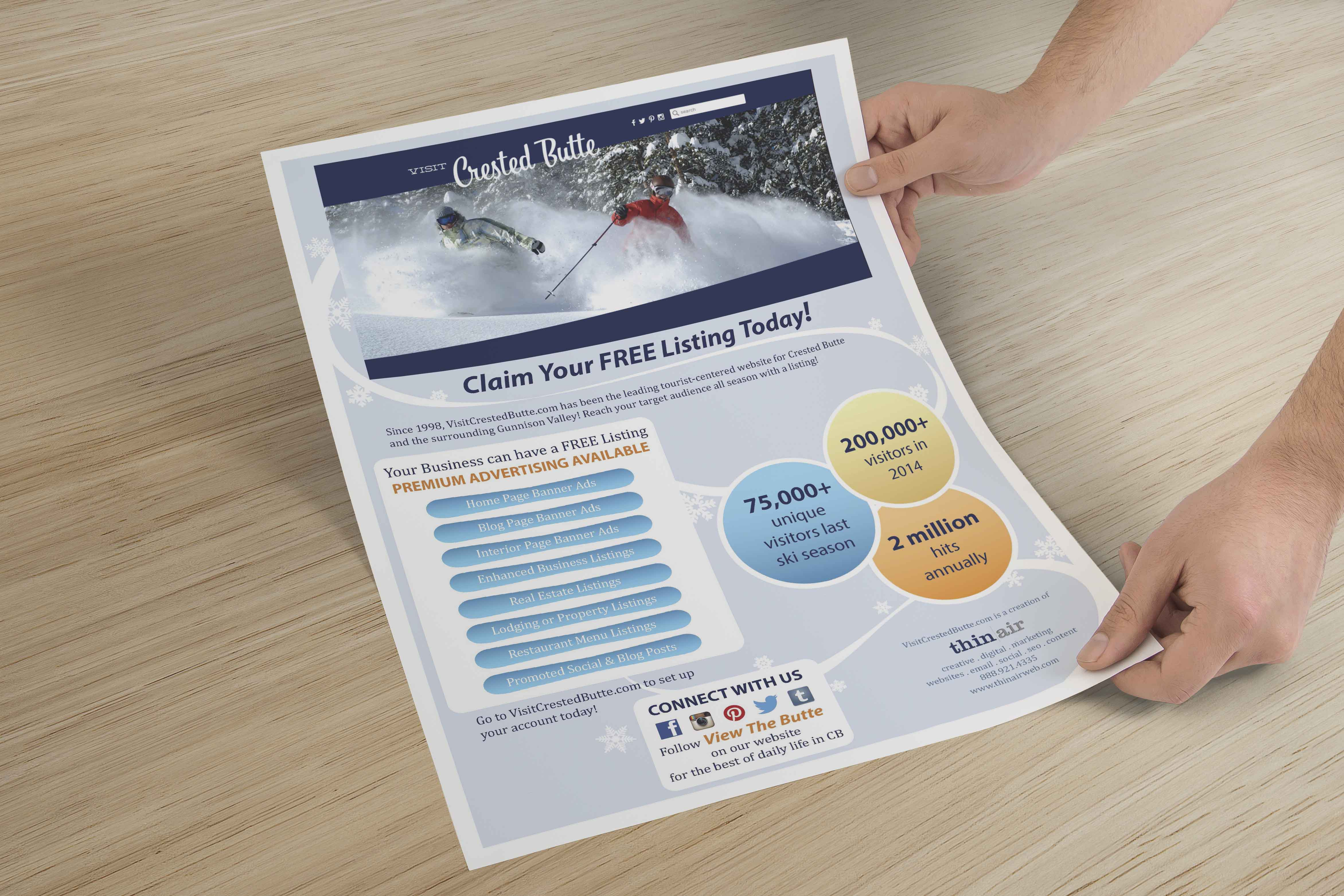 Visit Crested Butte Ad Flyer