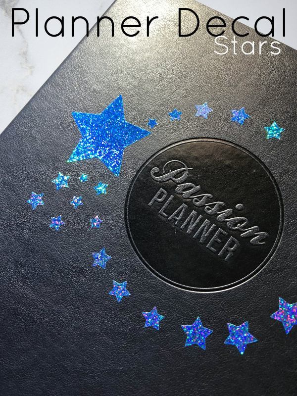 Stars Planner Decal - Star Circle Decal - Vinyl Decal - Weatherproof - Planning Decal - Passion Planner - Holographic Glitter Decal