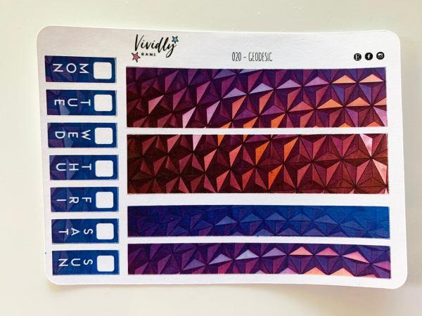 MINI KIT   Geodesic Design Dome Hobonichi Techo Weeks Weekly Kit   Hobonichi, Sticker Kit, Weekly Stickers, Weekly Kit, Cheap Hobo Kit