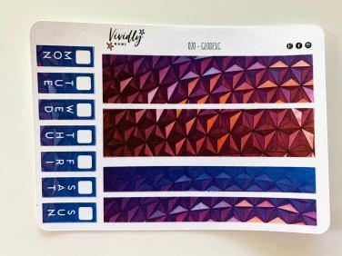 MINI KIT | Geodesic Design Dome Hobonichi Techo Weeks Weekly Kit | Hobonichi, Sticker Kit, Weekly Stickers, Weekly Kit, Cheap Hobo Kit