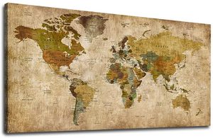 world map posters in 2021 vivid maps