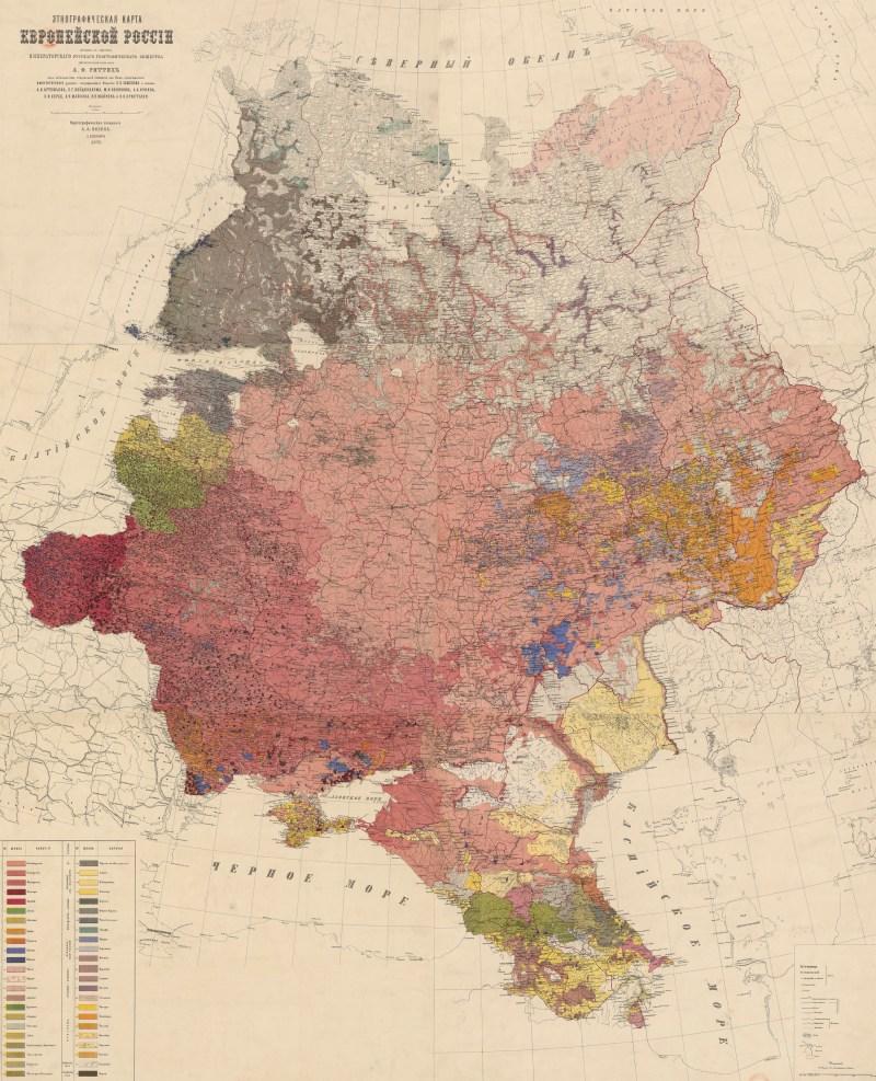 Ethnographic map of European Russia
