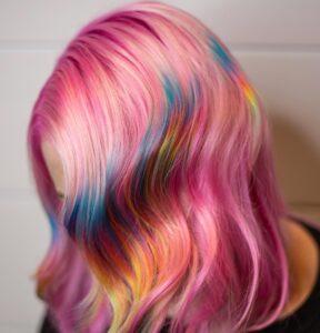 Pink Rainbow Vivid Color Vivid Rose Salon